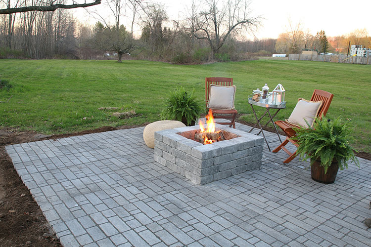How to Install a Natural Stone Patio with Fire Pit
